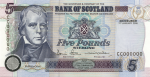 Bank of Scotland - £5 Tercentenary Series